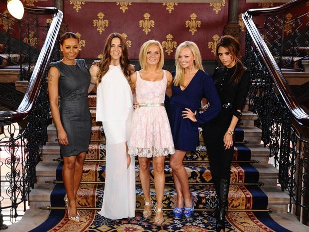 """Spice Girls lançaram o musical """"Viva forever"""", nesta terça-feira (26), em Londres (Foto: AP)"""