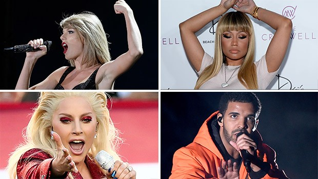 [Grammy] Taylor Swift, Lady Gaga, Nicki Minaj e Drake: alguns dos indicados ao Grammy 2016 (Foto: Getty Images)