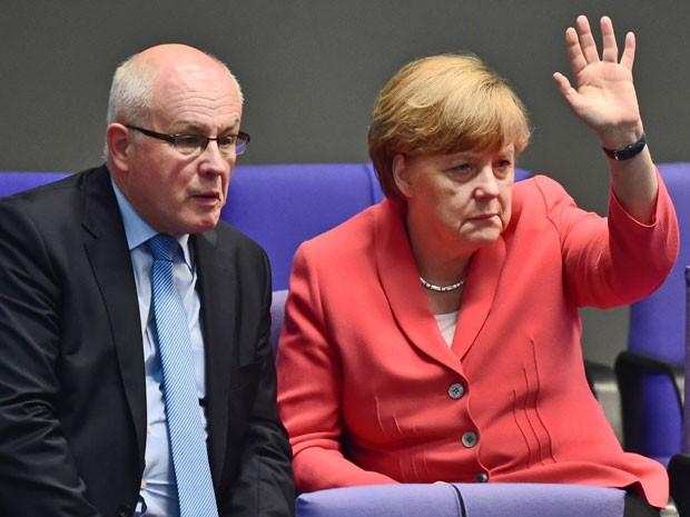 Merkel disse que o acordo é difícil, mas que não deixaria a Grécia 'sangrar' (Foto: AFP)