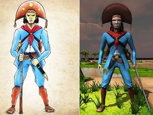 Todos os personagens do jogo foram feitos com textura analógica (Foto: Sertão Games)