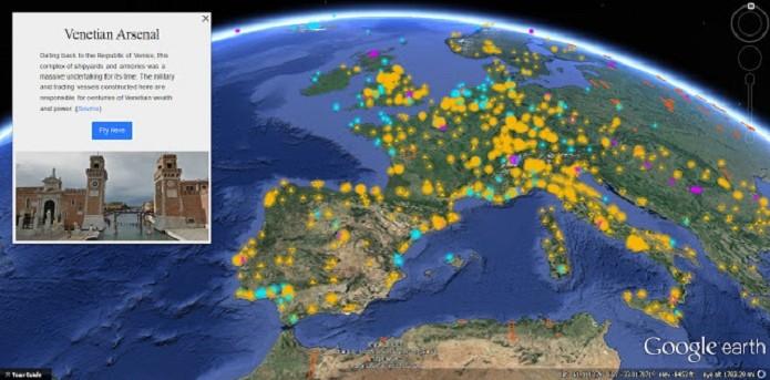 """Google Earth lança novo recurso """"Voyageur"""" para comemorar 10 anos (Foto: Divulgação/Google) (Foto: Google Earth lança novo recurso """"Voyageur"""" para comemorar 10 anos (Foto: Divulgação/Google))"""