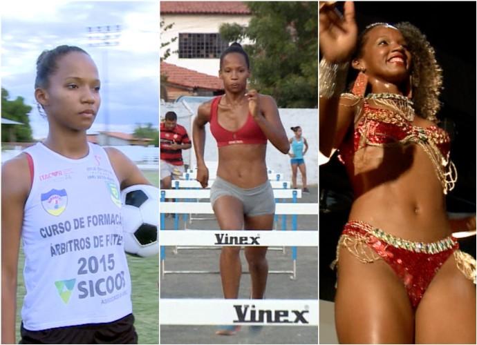 Maria da Paz, atleta, árbitra e sambista  (Foto: TV Clube)