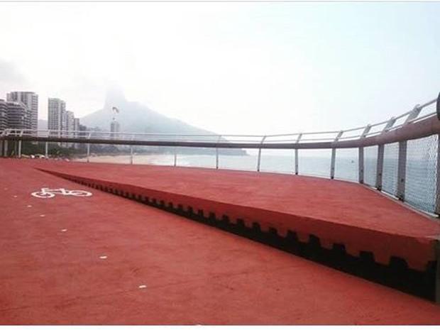 Desnível na pista foi construído para aproveitar a topografia do local  (Foto: Divulgação/Prefeitura do Rio)