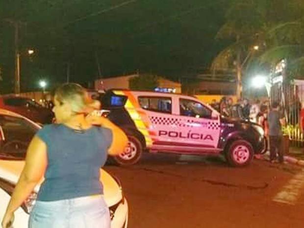 Assaltante foi baleado e morto por um policial militar, durante assalto em um restaurante no Bairro Boa Esperança, em Cuiabá (Foto: Divulgação)