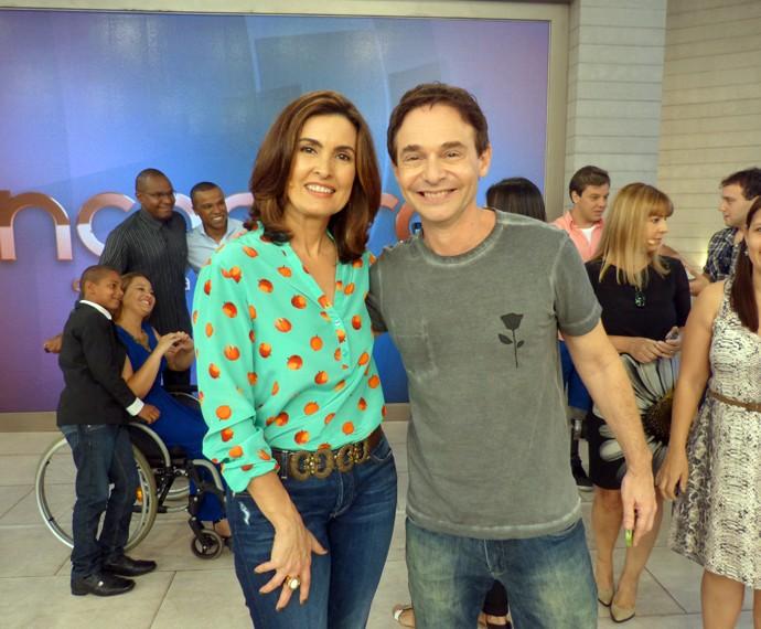 Jairo Bouer ao lado de Fátima Bernardes (Foto: Viviane Figueiredo Neto/Gshow)