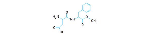 Fórmula estrutural do aspartame (Foto: Reprodução/UERJ)