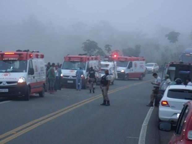 acidente bahia (Foto: Giro em Ipiaú / Divulgação)