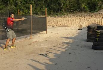 Vinicus cabral atirador (Foto: Weldon Luciano/GloboEsporte.com)