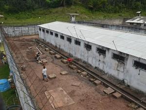 Penitenciária de Cucurunã possui atualmente 532 presos. (Foto: Reprodução/TV Tapajós)