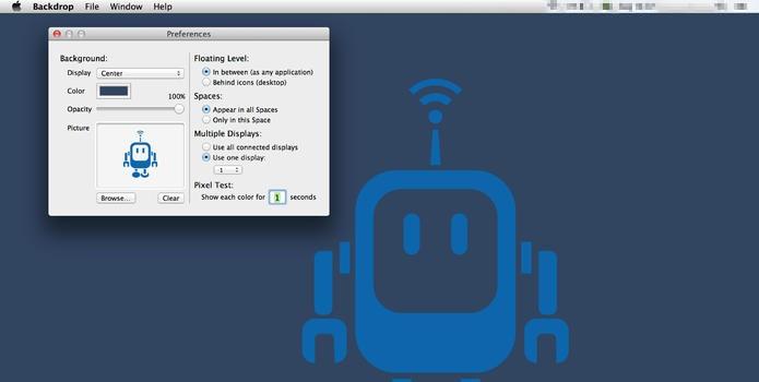 Backdrop coloca cores e imagens na mesa do Mac (Foto: Reprodução/Paulo Alves)
