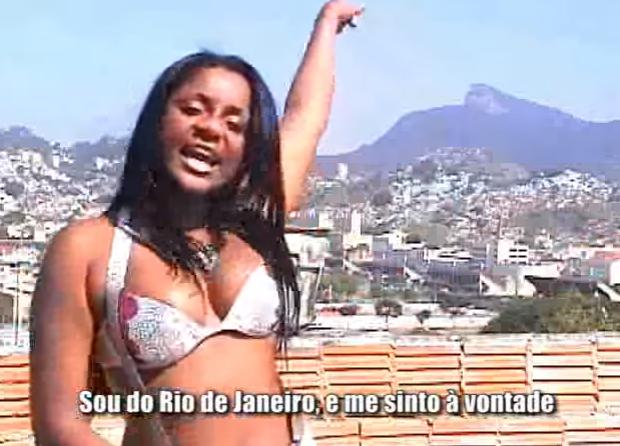 Cariúcha em clipe de 2009 com o bonde da laje (Foto: Reprodução / Youtube)