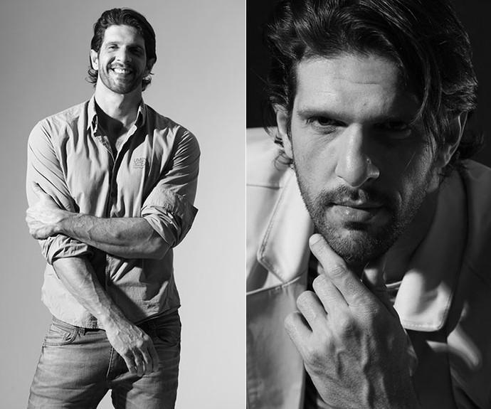 Guilherme em trabalhos anteriores como modelo (Foto: Arquivo pessoal)