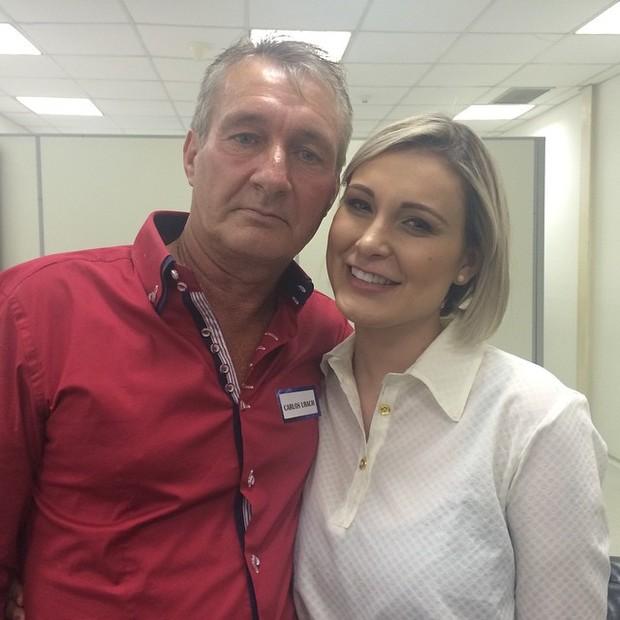 Andressa Urach e o pai, Carlos Alberto Urach (Foto: Instagram/ Reprodução)