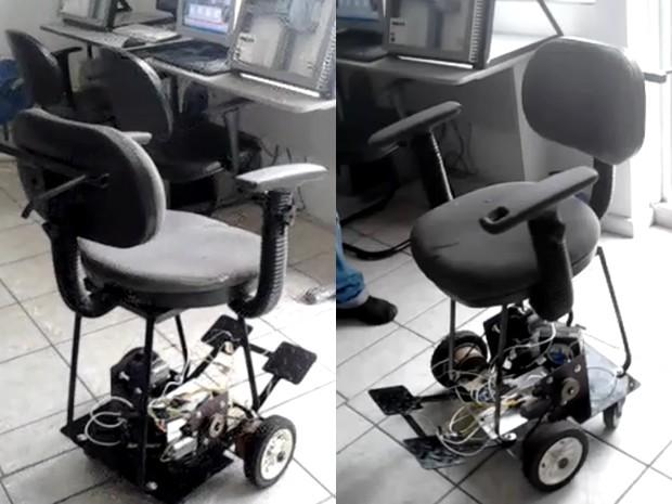 Grupo criou cadeira de rodas de custo mais acessível (Foto: Eduardo Fazollo/Arquivo Pessoal)