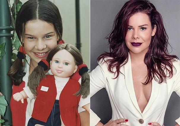"""Fernanda Souza interpretava Mili em """"Chiquititas"""" (Foto: Reprodução/Instagram e Montagem/Glamour)"""