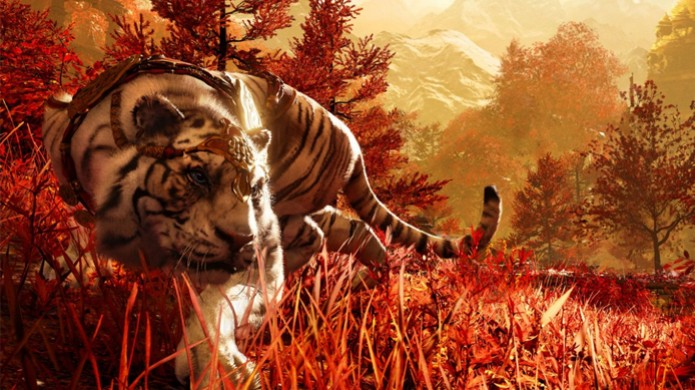 Majestoso tigre aparece em imagens de Far Cry 4 (Foto: The Dark Side of Gaming) (Foto: Majestoso tigre aparece em imagens de Far Cry 4 (Foto: The Dark Side of Gaming))