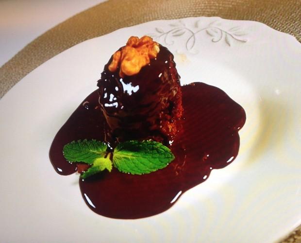 Brownie preparado pela Sílvia Pfeifer (Foto: Estrelas/Gshow)
