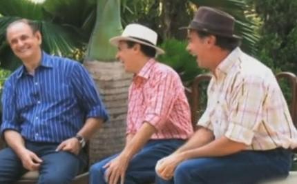 Hamilton Carneiro, Nilton Pinto e Tom Carvalho (Foto: Produção TV Anhanguera)