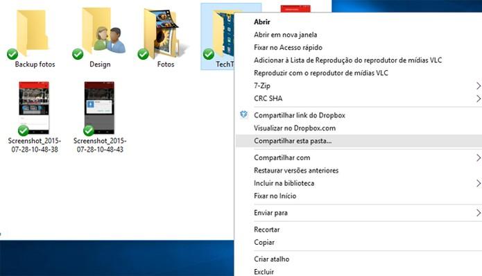 Compartilhar pelo Windows pode ser o caminho mais rápido (Foto: Reprodução/Pedro Cardoso)