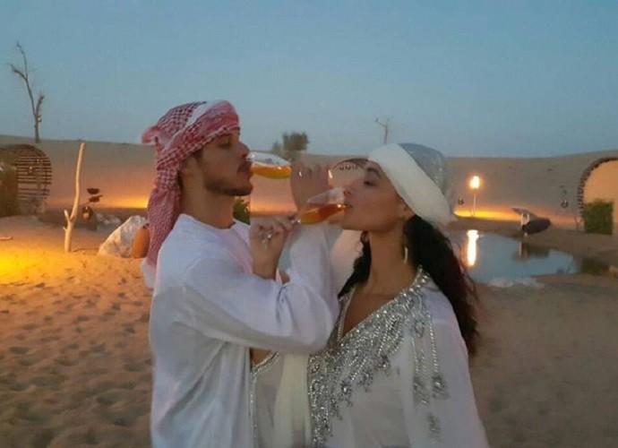 Débora Nascimento e José Loreto casam em Abu Dhabi (Foto: Arquivo Pessoal)