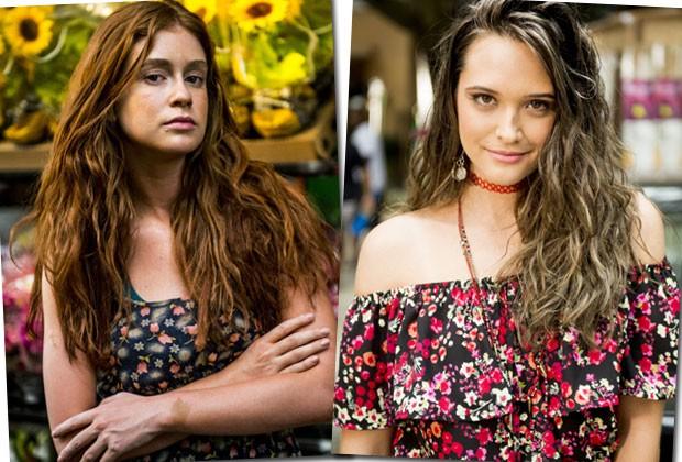 Marina Ruy Barbosa irá se tornar uma topmodel e Juliana Paiva sonha em ser uma modelo famosa (Foto: Divulgação/TVGlobo)