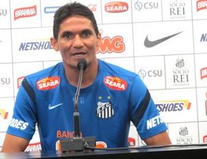 Durval, treino do Santos (Foto: Marcelo Hazan / Globoesporte.com)