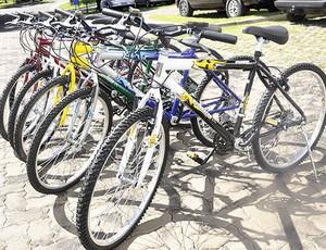 Bicicletas serão sorteadas na final da Copa Centro América de Futsal (Foto: Dhiego Maia/GLOBOESPORTE.COM)