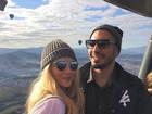 Fernando Medeiros e Aline Gotschalg fazem passeio de balão