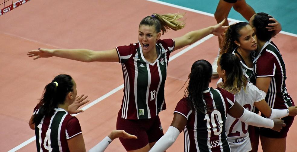 Meninas do vôlei tricolor levaram o Flu até as quartas de final da última Superliga feminina (Foto: Mailson Santana/Fluminense)
