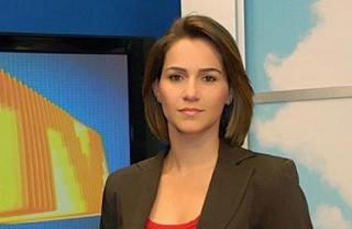 Keila Mendes apresenta o MG Inter TV 1ª Edição (Foto: Arquivo pessoal)