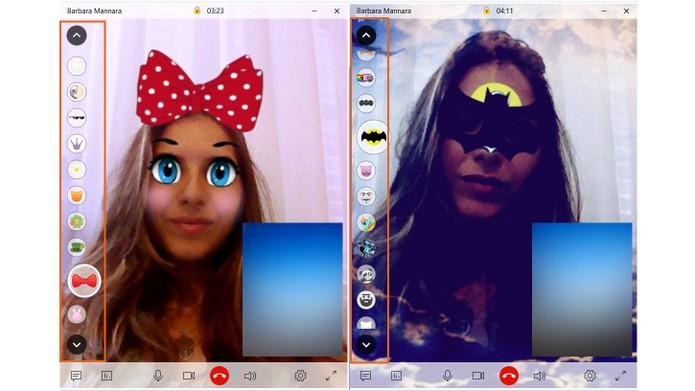 Aplique as máscaras no seu rosto pela webcam do PC (Foto: Reprodução/Barbara Mannara)
