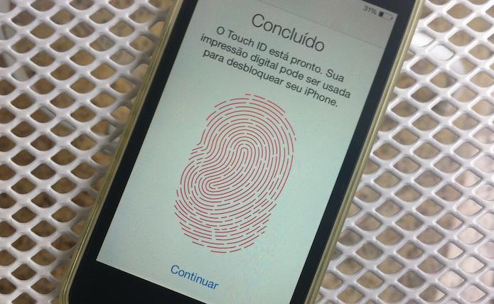 Terminando o processo de vincular uma nova impressão digital a Touch ID do iOS (Foto: Reprodução/Marvin Costa)