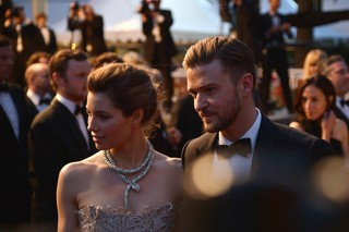 Jessica Biel e Justin Timberlake no Festival de Cannes (Foto: AFP / Agência)