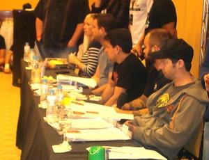 mesa de juizes seletiva TUF Brasil II (Foto: Ivan Raupp / Globoesporte.com)