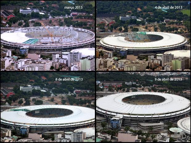 Em praticamente um mês, colocação de cadeiras e cobertura foi concluída (Foto: Marcos Estrella/TV Globo)