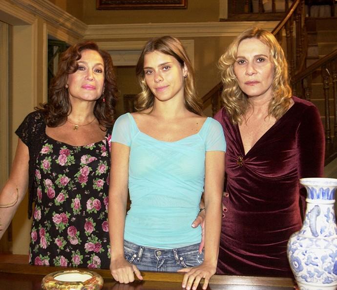 Susan, Carolina e Renata em 'Senhora do Destino' (Foto: TV Globo / João Miguel Júnior)