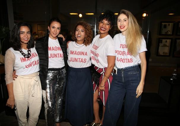 Alline Cury, Anay Zaffalon, Carla Lemos, Samantha Almeida e Paula Merlo (Foto: Marlon Brambilla)