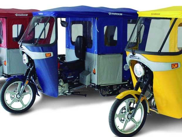 Motocar, triciclo montado no Brasil, que é similar ao tuk-tuk indiano (Foto: Divulgação)