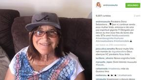 Post de Andressa Suita no último aniversário de Sebatiana, mãe de Gusttavo Lima (Foto: Instagram / Reprodução)