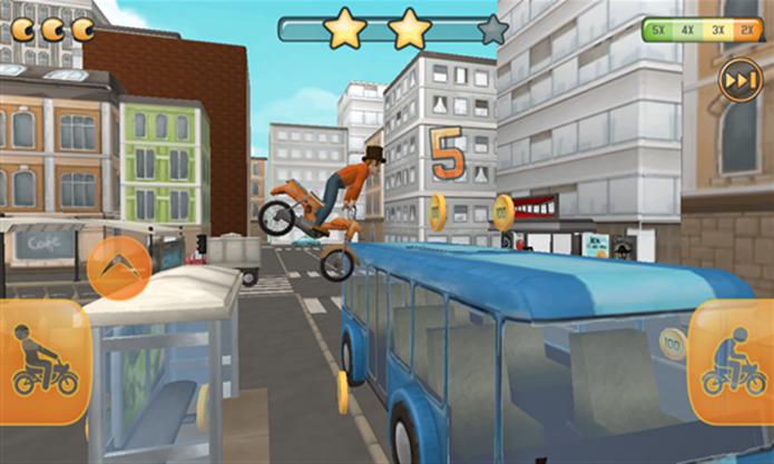 Fail Hard é um game de ação no qual jogador encarna um motociclista (Foto: Divulgação/Windows Phone Store)