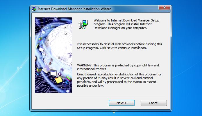 Assistente de instalação do Internet Download Manager (Foto: Reprodução/Helito Bijora)
