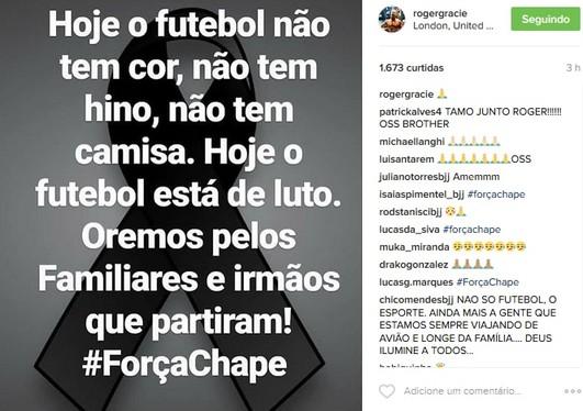 Roger Gracie Chapecoense (Foto: reprodução/Instagram)