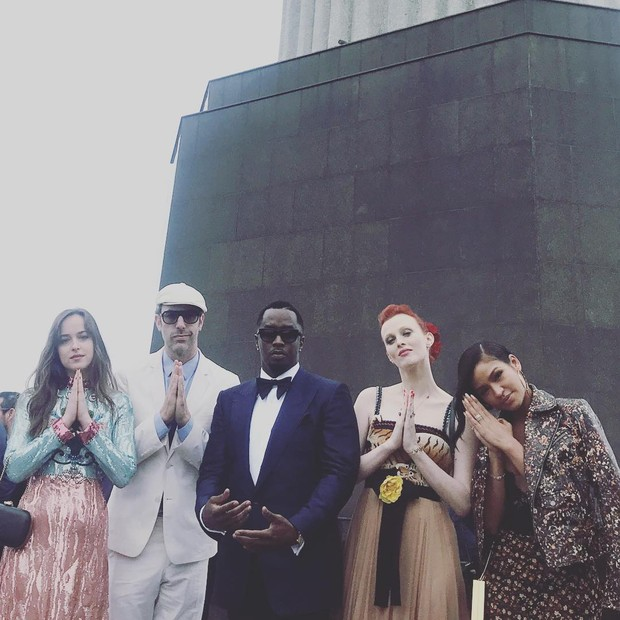 Dakota Johson e P. Diddy (Foto: Reprodução/ Instagram)