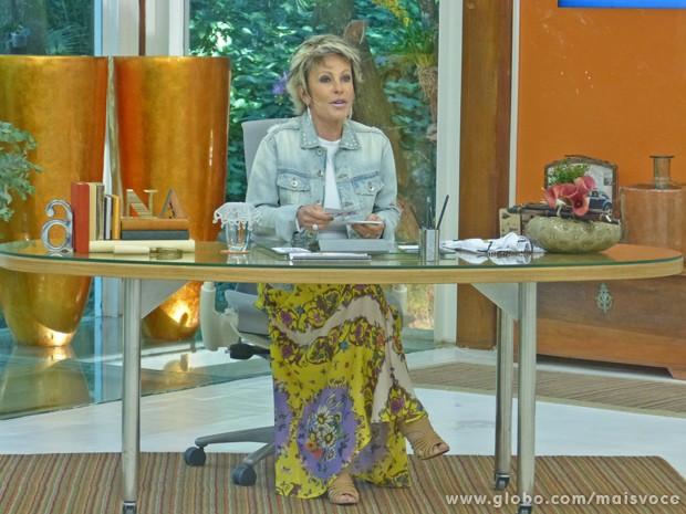 Ana Maria conta que já está recuperada (Foto: Mais Você / TV Globo)