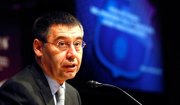 Coletiva Josep Maria Bartomeu Presidente Barcelona (Foto: REUTERS)