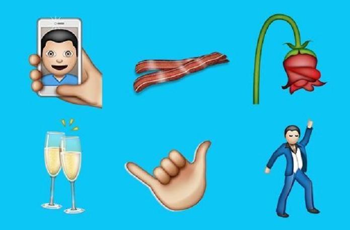 Lista com 38 novos emojis tem bacon e selfie (Foto: Reprodução/Yahoo) (Foto: Lista com 38 novos emojis tem bacon e selfie (Foto: Reprodução/Yahoo))