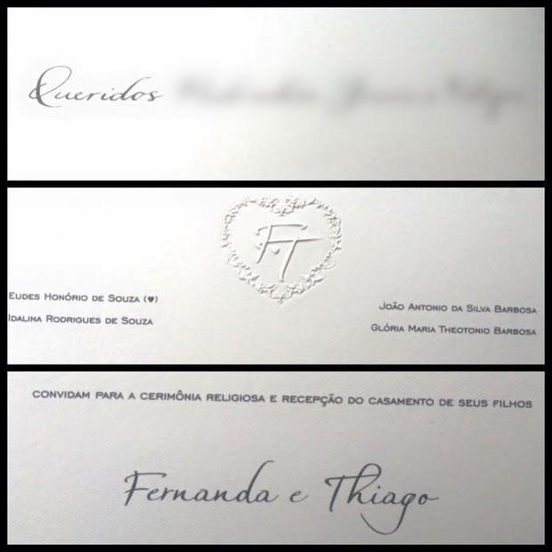 Convite de casamento de Thiaguinho e Fernanda Souza (Foto: Reprodução/Instagram)
