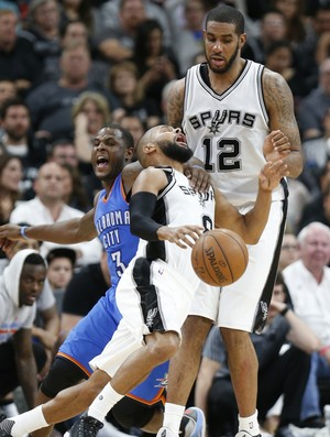 Waiters Ginobili Aldridge Spurs x OKC NBA Basquete (Foto: Getty Images)