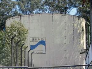 Manutenção em reservatório vai interromper o abastecimento (Foto: Divulgação/ Saae)