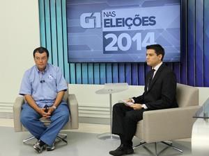 Candidato Eduardo Braga participou de entrevista   (Foto: Leandro Tapajós/G1 AM)